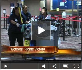 Fired janitors reinstated: click for video