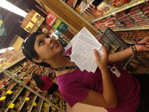 Xenia signed dozens of people to a postcard to Congress supporting immigration reform with a roadmap to citizenship.